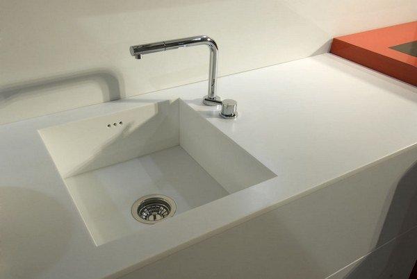 Pada Sinki Dapur Foto Dari Batu Tiruan Akrilik