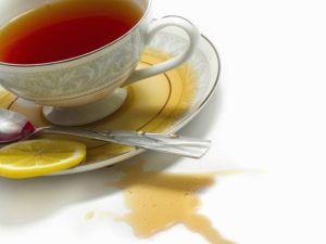как вывести пятна от чая